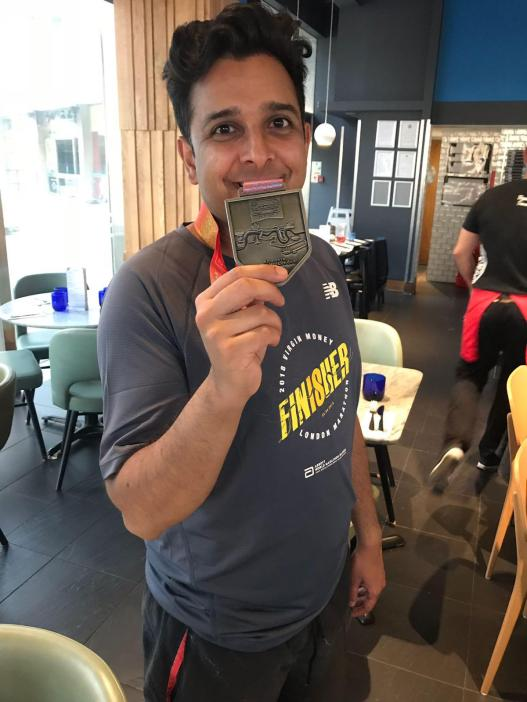 Bro. Prashant post London Marathon